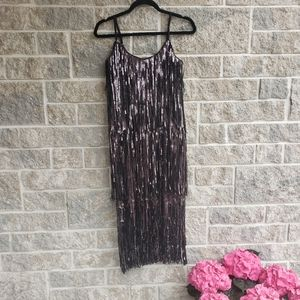 NWOT Dress the Population sequin flapper dress